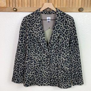 CAbi Jungle Jacket Leapord Print Blazer #3373